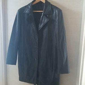 Kathy Ireland leather coat fully lined L